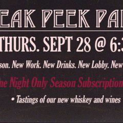 Sneak a Peek Announcement Party!